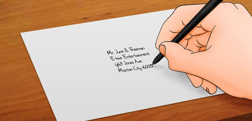 نوشتن نامه به زبان انگلیسی